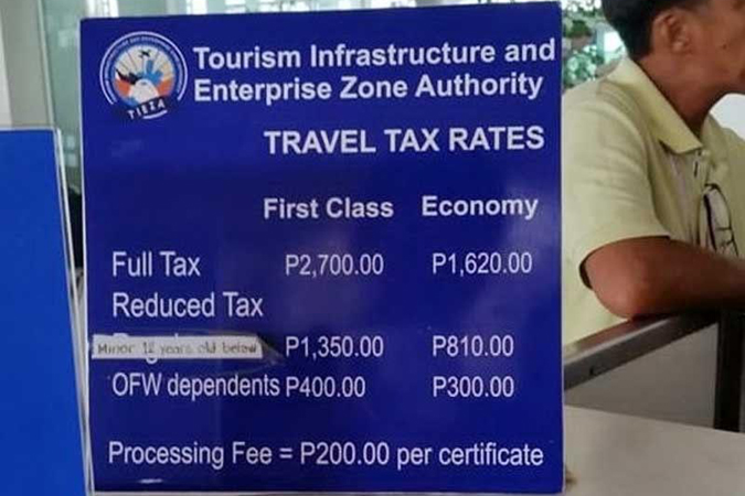 travel tax 022120 - Airline industry seeks removal or reduction of travel tax
