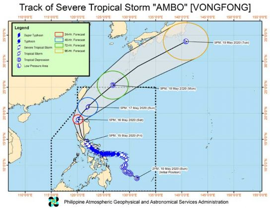 Powerful storm forces thousands from homes in virus-hit Philippines