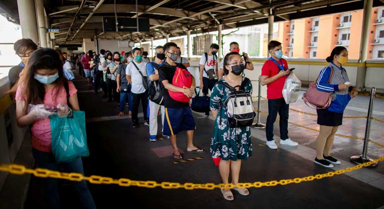 MRT facemask social distancing - Gradual recovery seen to begin this month