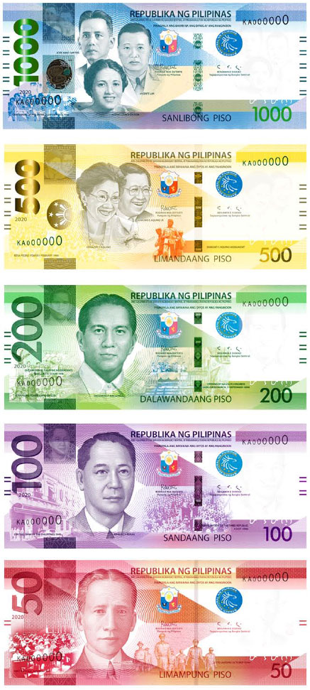 peso banknotes - BSP launches enhanced banknotes