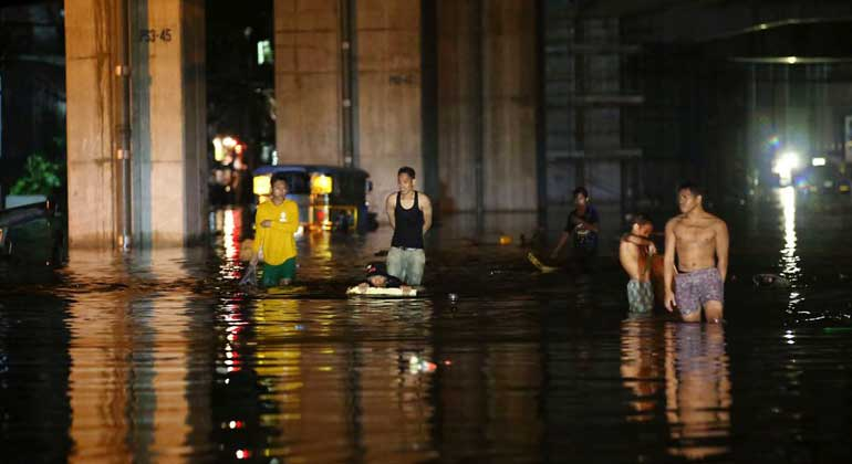 Typhoon Ambo flood - Disaster risk reduction programs are being updated, taking account of COVID-19