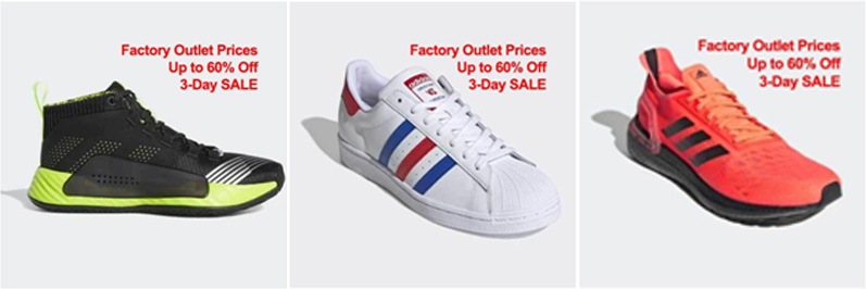 adidas3 - Online factory outlet to open with a 3-day sale