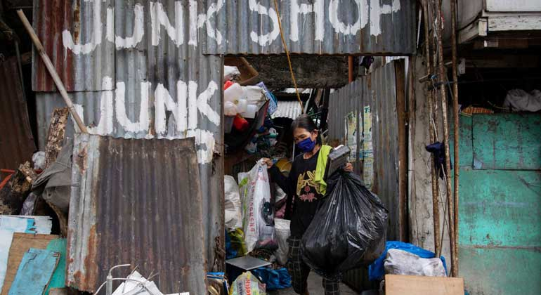 junkshop reuters - Philippine trash trawlers earn little from virus-boosted surge in plastics