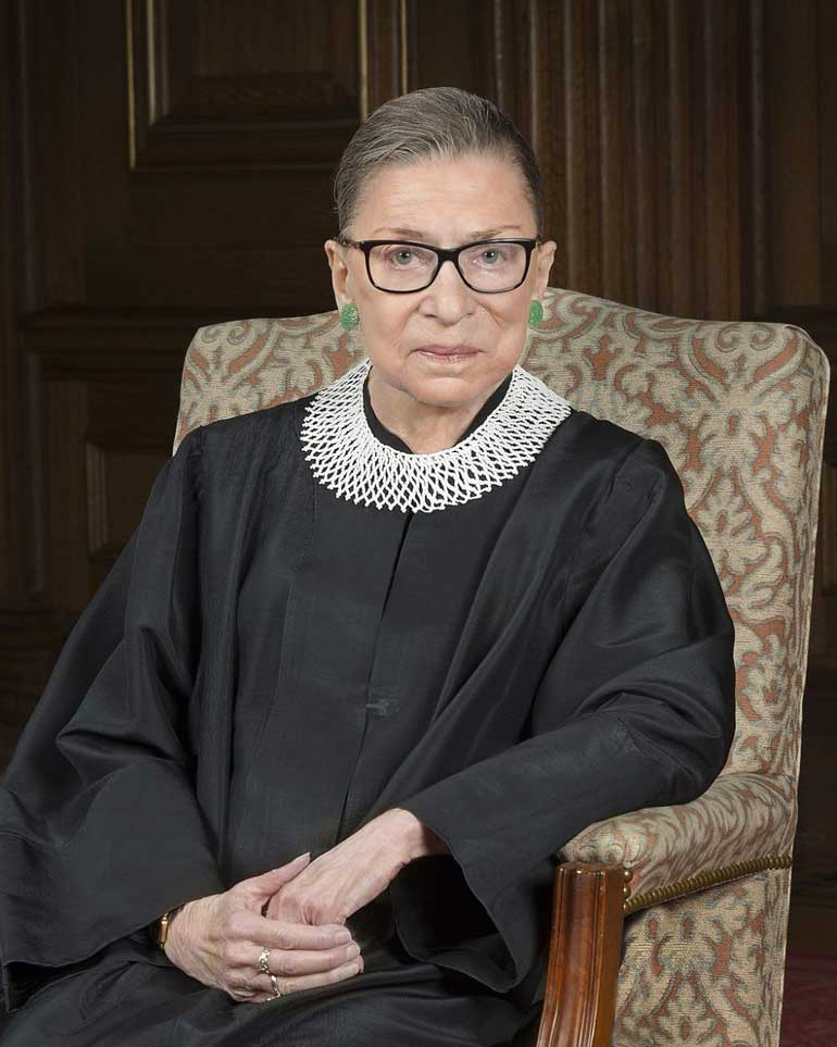 Ruth Bader Ginsburg 2016 portrait - How RBG's death could shift the Supreme Court—and American life—rightward