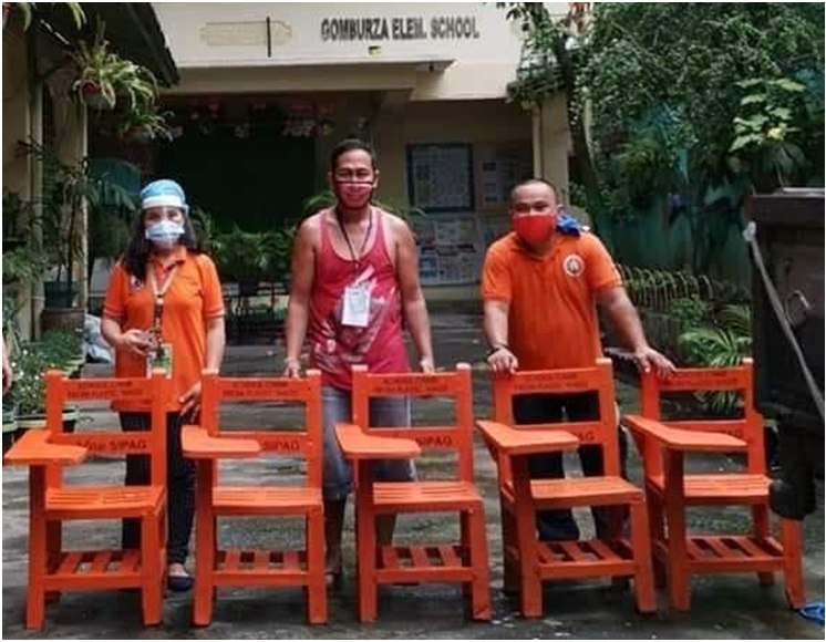 img1 - Villar's plastic recycling program gives livelihood, helps solve lack of chairs and plastic woes