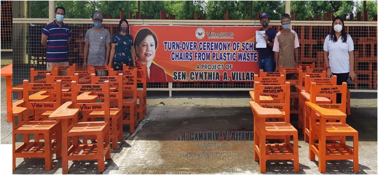 img5 - Villar's plastic recycling program gives livelihood, helps solve lack of chairs and plastic woes