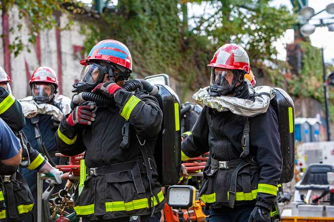 Firefighter - NYC first responders have high COVID-19 rates; public surfaces may hold clues to virus spread