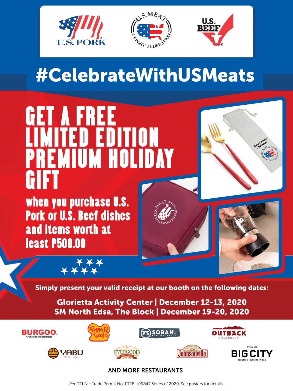 Celebrate With U.S. Meats Poster for PR - U.S. meats keeps the holidays alive in the new normal